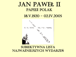 jan paweł ii - Partecipiamo.it