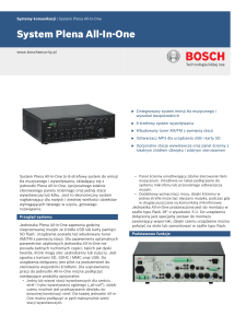 System Plena All-In-One - Bosch Security Systems