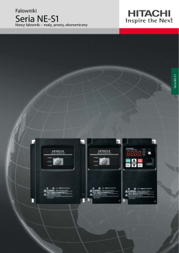 Brochure Inverter NE-S1 - Hitachi Industrial Components