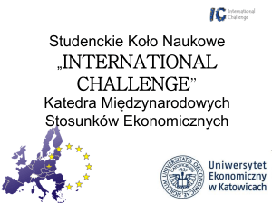 Koło Naukowe INTERNATIONAL CHALLENGE Katedra