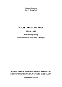 POLSKI ROCK and ROLL 1956-1968