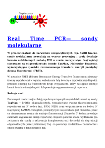 Real Time PCR— sondy molekularne