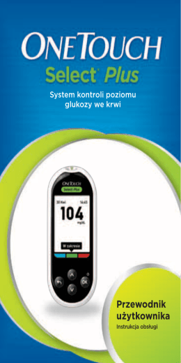OneTouch Select® Plus Owners Book Poland Polish