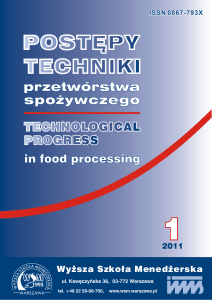 TECHNOLOGICAL PROGRESS in food processing