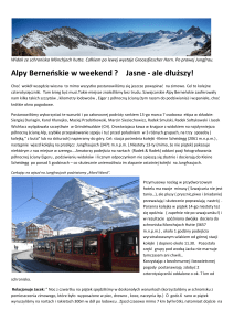 Alpy Berneńskie w weekend ? Jasne