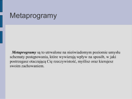 Metaprogramy