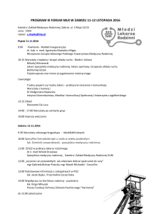 PROGRAM III FORUM MLR W ZABRZU 11