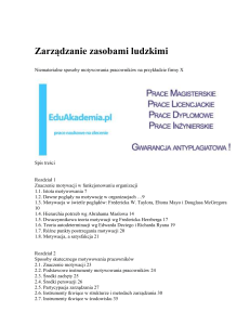 Praca Magisterska Motywowanie Praca Licencjacka