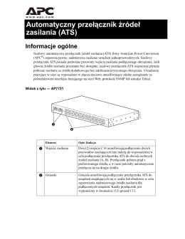 Rack Automatic Transfer Switch (AP7721) Overview and