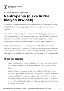 Neutropenia (Low White Blood Cell Count)