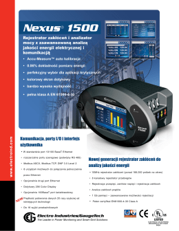 Nexus® 1500 - Electro Industries
