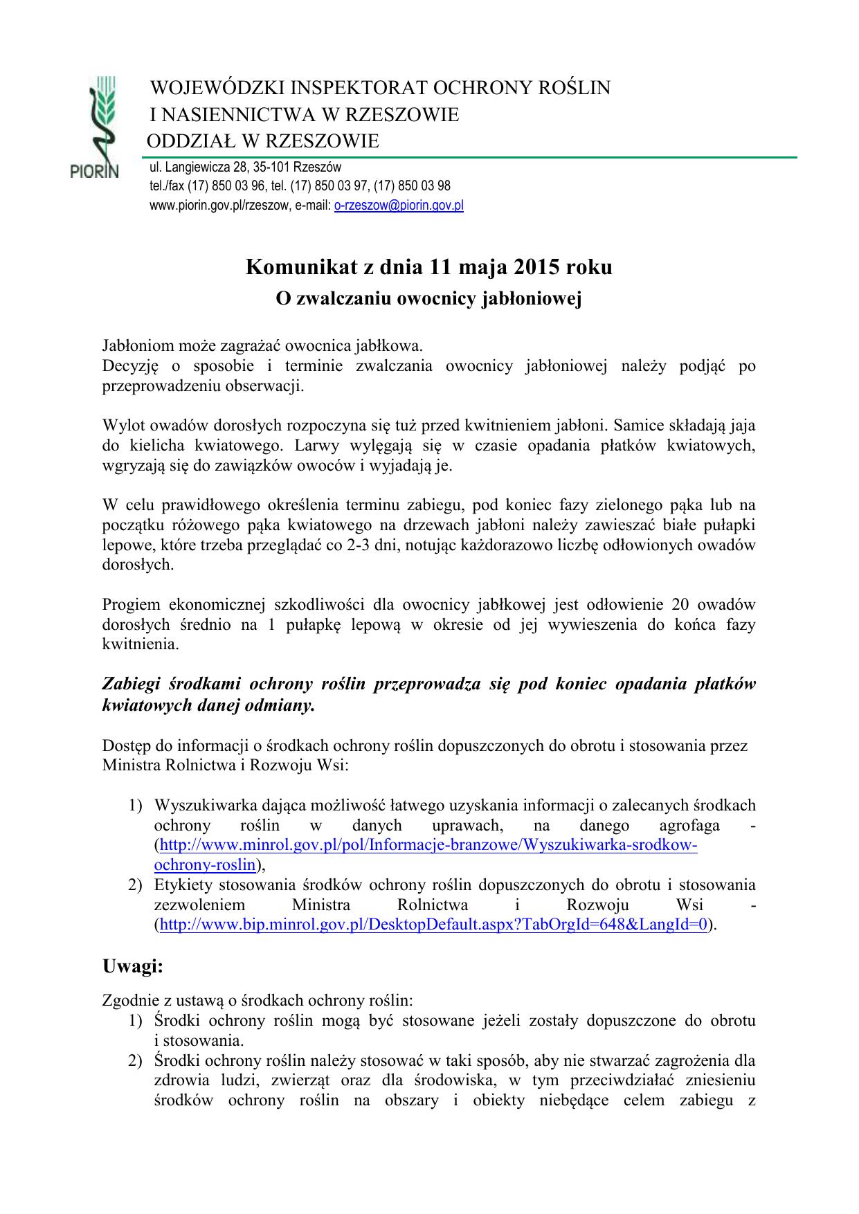 dcf82d87d02bd0 wojewódzki inspektorat ochrony roślin i nasiennictwa w rzeszowie