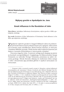 Wpływy greckie w Apokalipsie św. Jana Greek influences in the