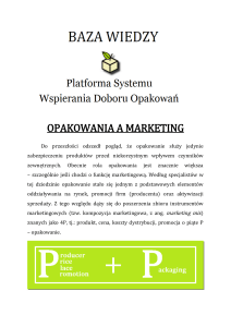 Opakowania a marketing