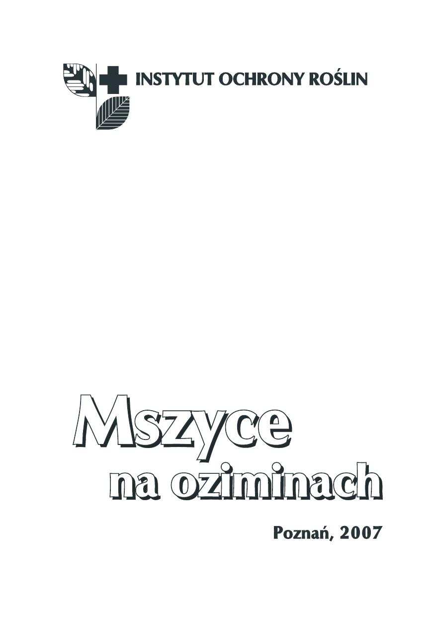 Mszyce Na Oziminachindd Instytut Ochrony Roślin