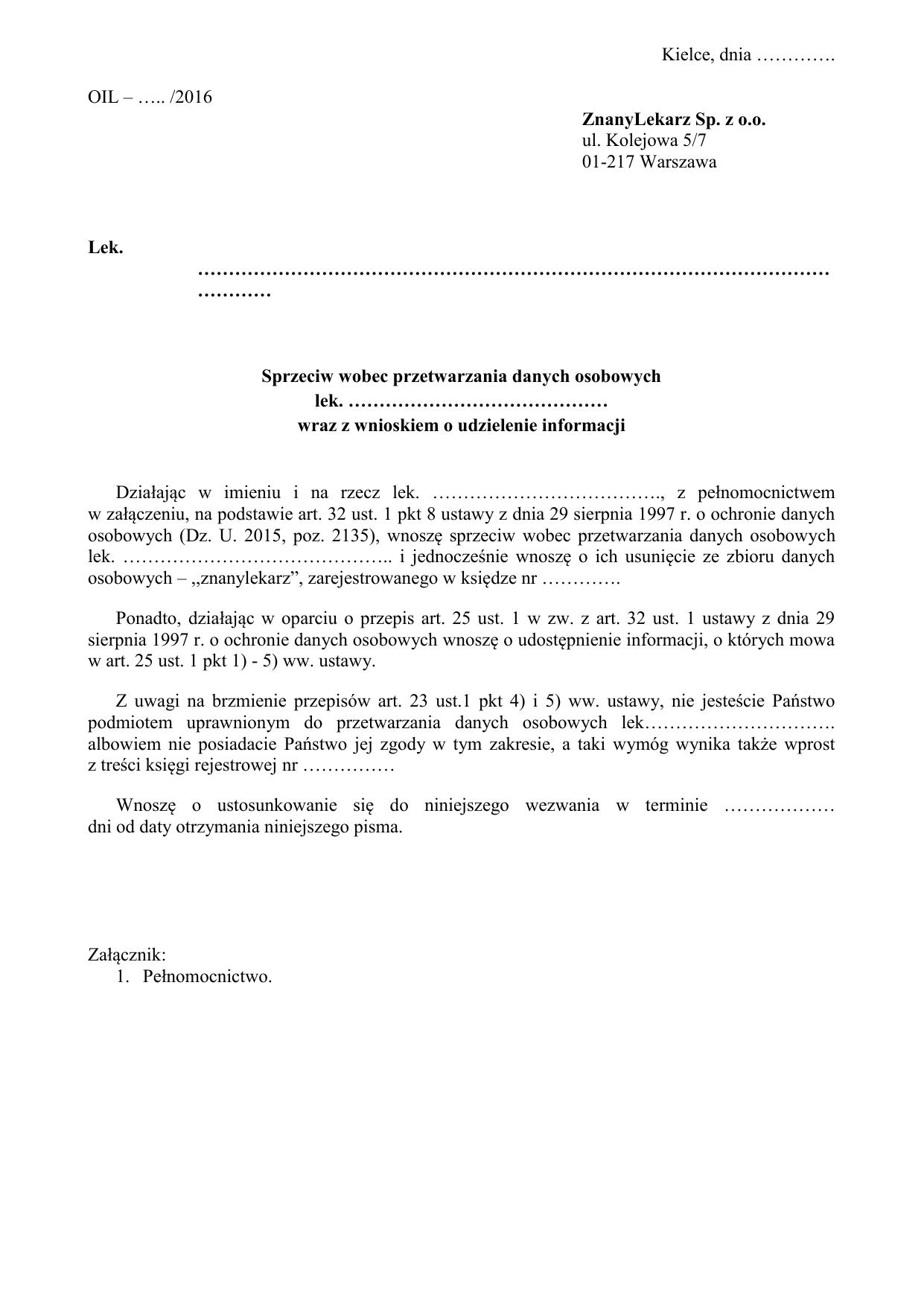 4b2648af9bd14e RPL-wzór-sprzeciw wobec przetwarzania danych