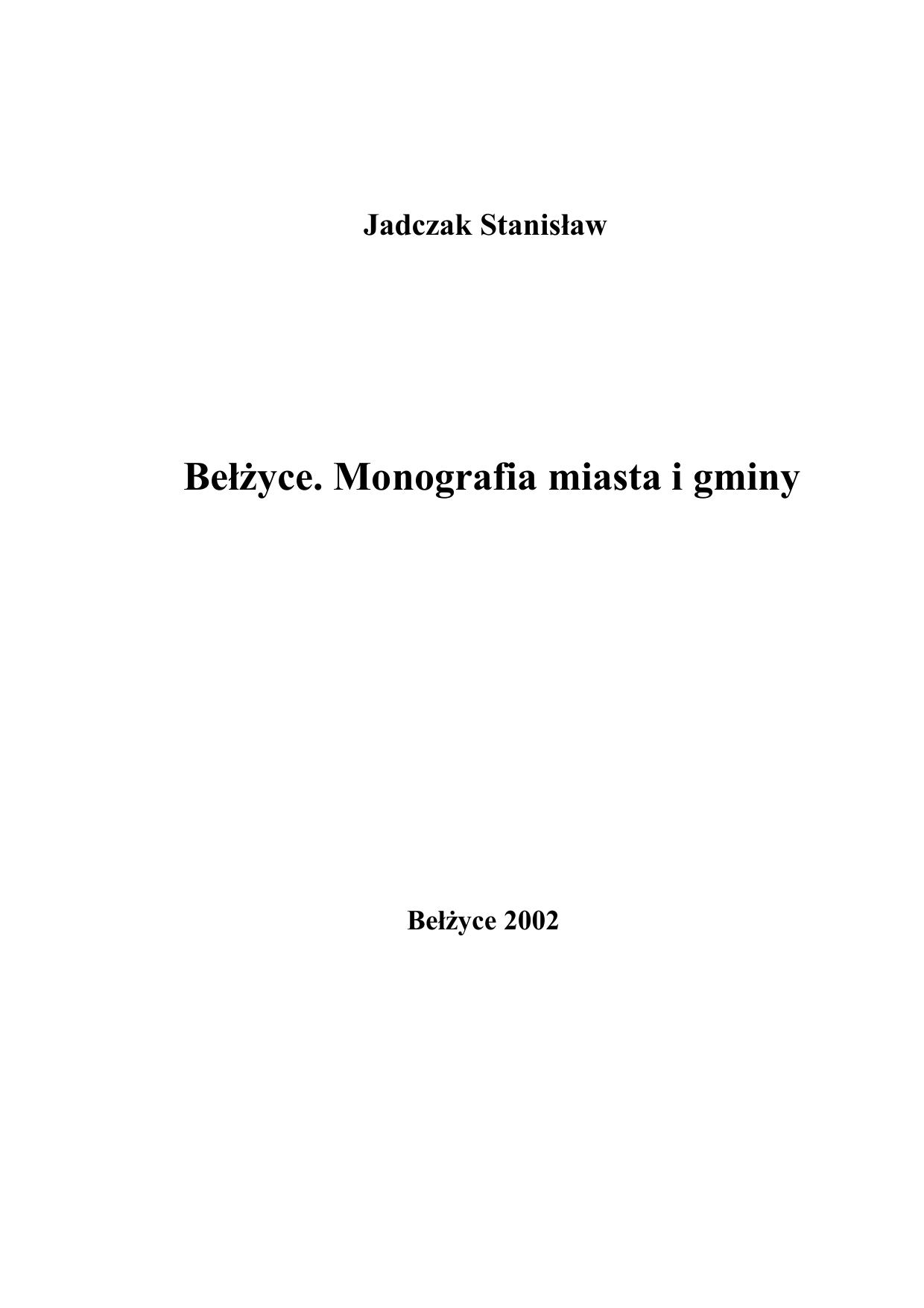 7a9a374ac8887 Bełżyce. Monografia miasta i gminy