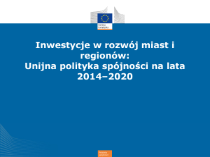 The EU`s reformed Cohesion Policy 2014-2020