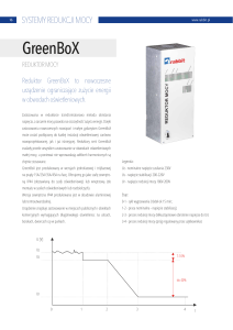 GreenBoX – reduktor mocy