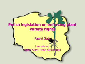 Polish legislation on enforcing plant variety rights