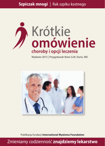 Krótkie omówienie - International Myeloma Foundation
