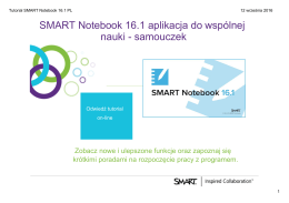 Tutorial SMART Notebook 16.1 PL