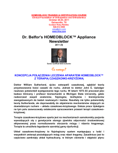 HOMEOBLOCK™ Appliance Newsletter