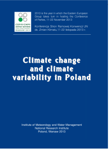Climate change and climate variability in Poland