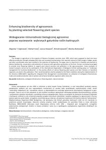 Enhancing biodiversity of agrocenosis by planting selected