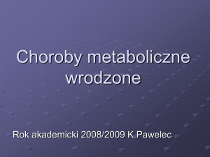 Choroby metaboliczne