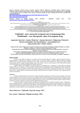 Talidomid - Journal of Education, Health and Sport