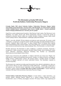 The Klezmatics gwiazdą XIII Festiwalu Singera_press note
