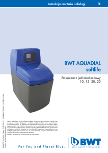 BWT AQUADIAL softlife instrukcja