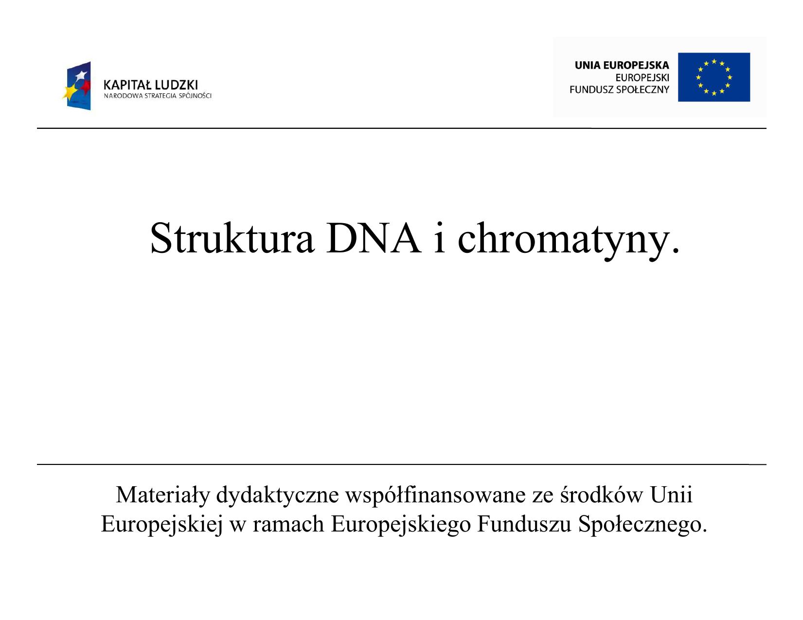 Struktura Dna I Chromatyny