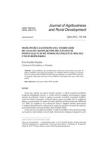 pdf pl - Journal of Agribusiness and Rural Development