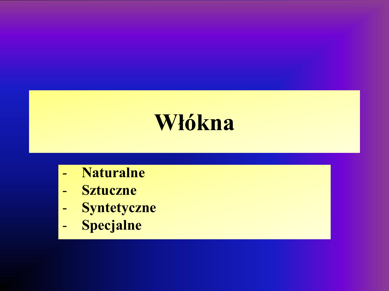 49470cbcb0 Włókna - Naturalne Sztuczne Syntetyczne Specjalne Klasyfikacja włókien   Włókna – jednostka struktury materiałów