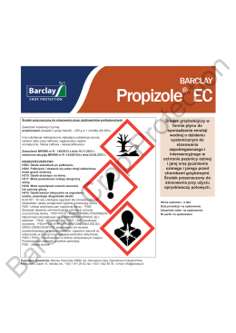 Propizole® EC Label