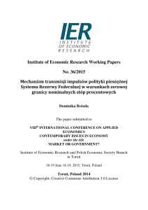 Institute of Economic Research Working Papers No. 36/2015