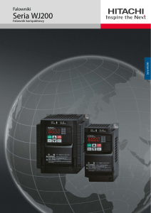 Brochure Inverter WJ200 - Hitachi Industrial Components