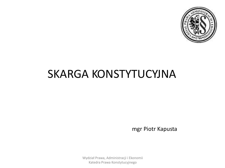 Oryginał Skarga konstytucyjna dla SSP II i SSA(3) HK35