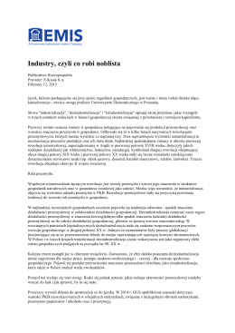 Industry, czyli co robi noblista