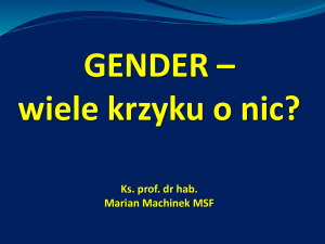 2014.Gender. Gietrzwałd
