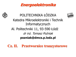 Przetwornice transformatorowe (transformer-isolated
