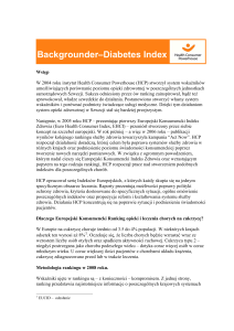 Backgrounder–Diabetes Index