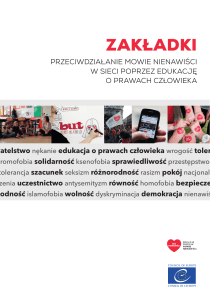 zakładki - No Hate Speech Movement