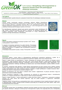 Identification of microorganisms in the preparation Humate Green