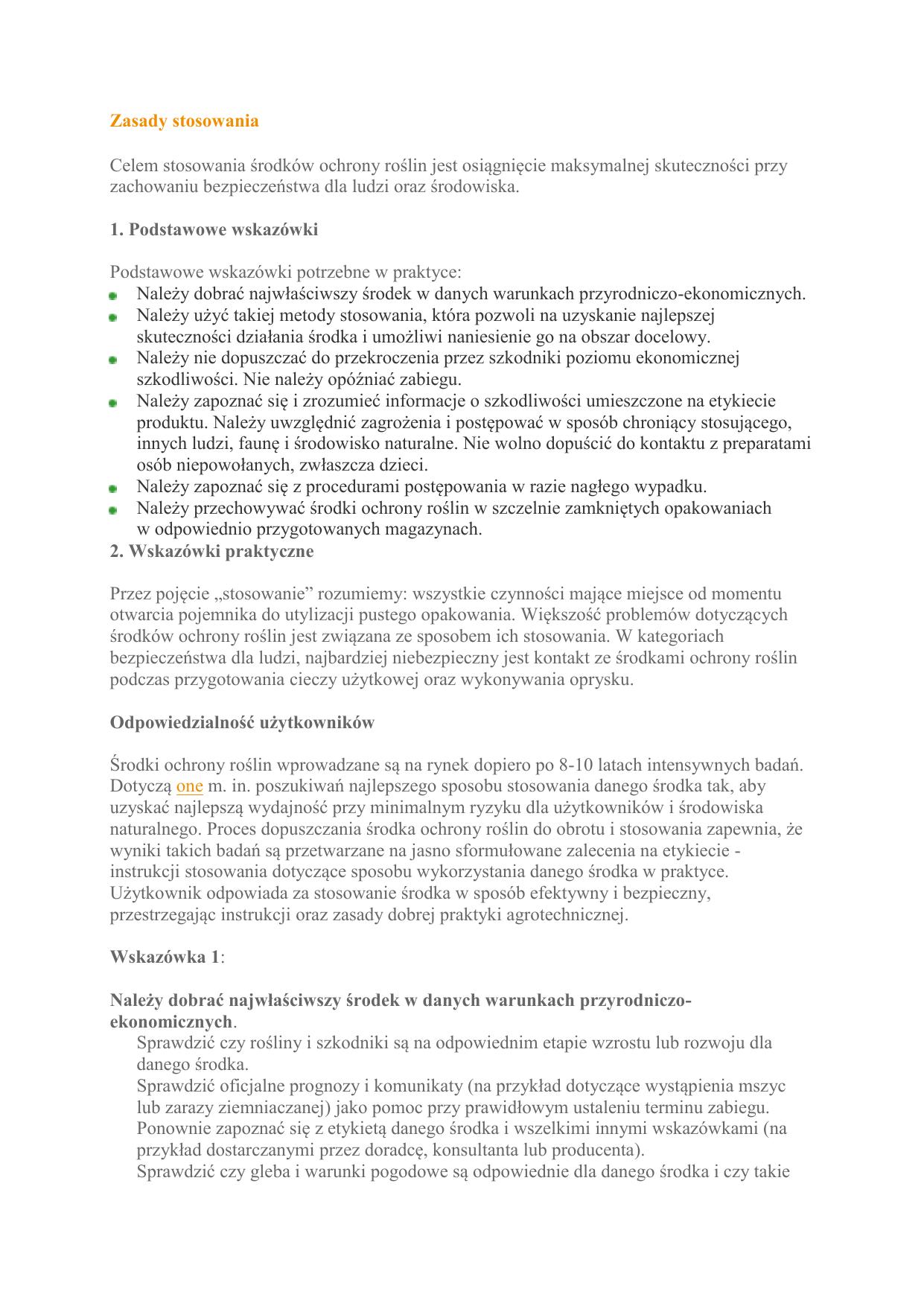76987c310a0d08 Zasady stosowania srodkow ochrony roslin