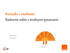 presentation template Orange