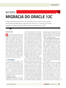 migracja do oracle 12c - Ora-600