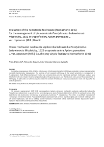 Evaluation of the nematicide fosthiazate (Nemathorin 10 G) for the